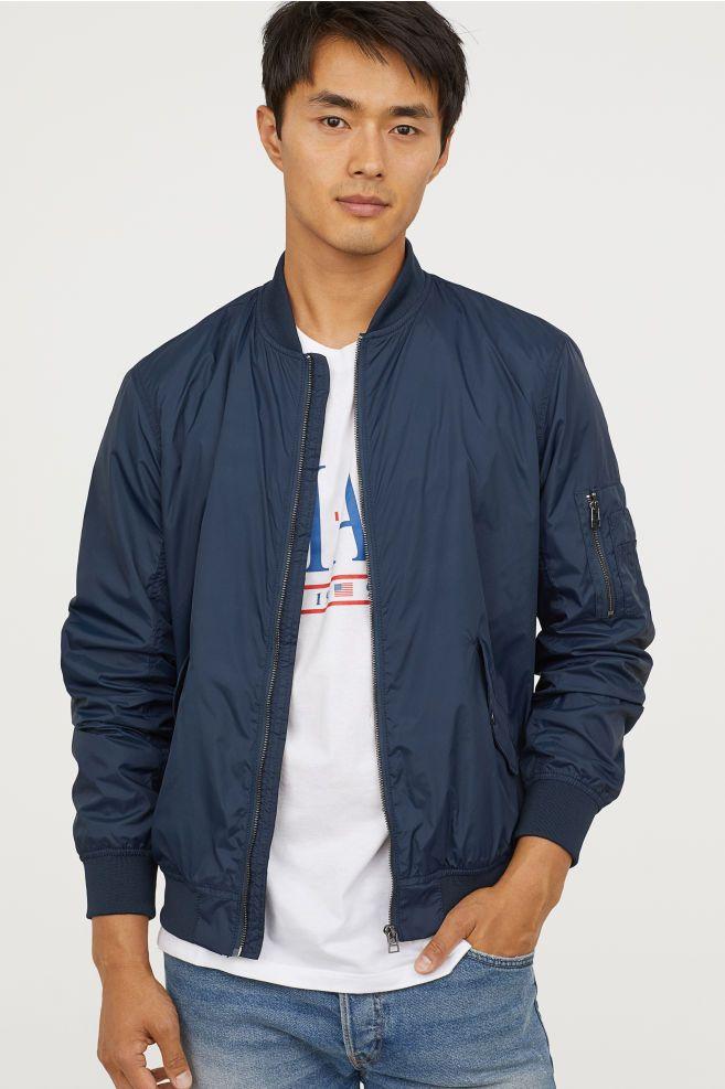 96d1643a3 Nylon Bomber Jacket in 2019   Outerwear   Nylon bomber jacket ...