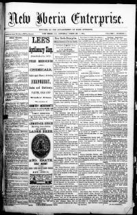 NEW IBERIA PARISH, Louisiana - New Iberia - 1885-1902- New Iberia Enterprise  « Chronicling America « Library of Congress