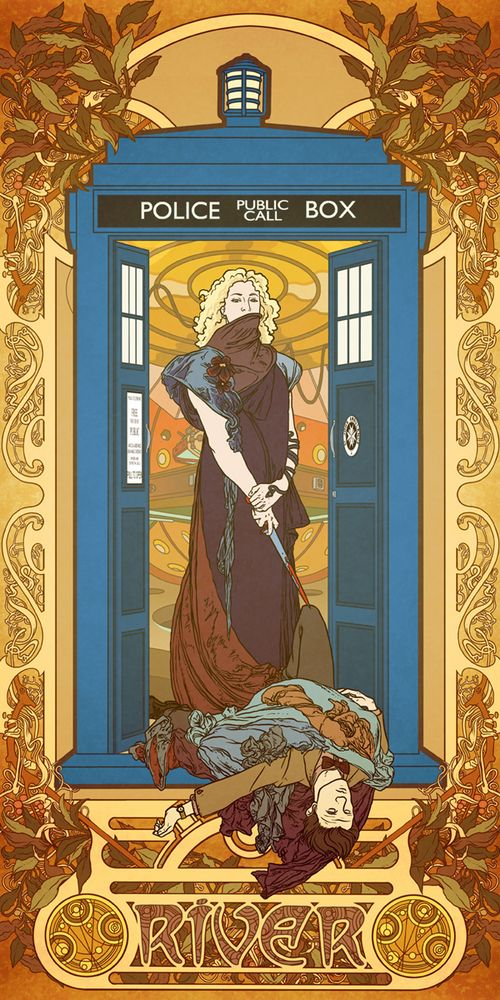 tick tock goes the clock: Art Nouveau, Doctors Who Art, Alphon Mucha, The Doctor, Artnouveau, Rivers Songs, Fans Art, Dr. Who, Art Deco