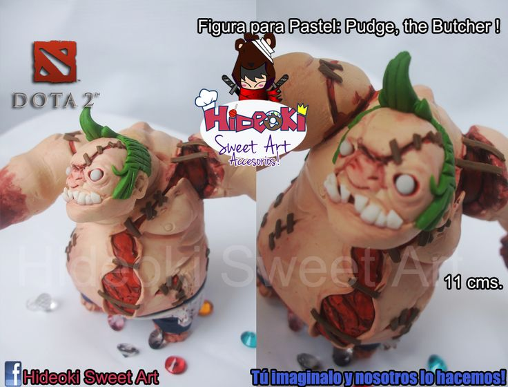Pudge , The butcher! Sculpture from Dota 2 We take commissions! and ship all over the world ^^ For more like these please visit our FB fan page:  https://www.facebook.com/hideokiaccesorios