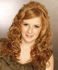 Long Curly Formal Hairstyle with Side Swept Pony – Light Red Ginger Hair Color, #f …, …