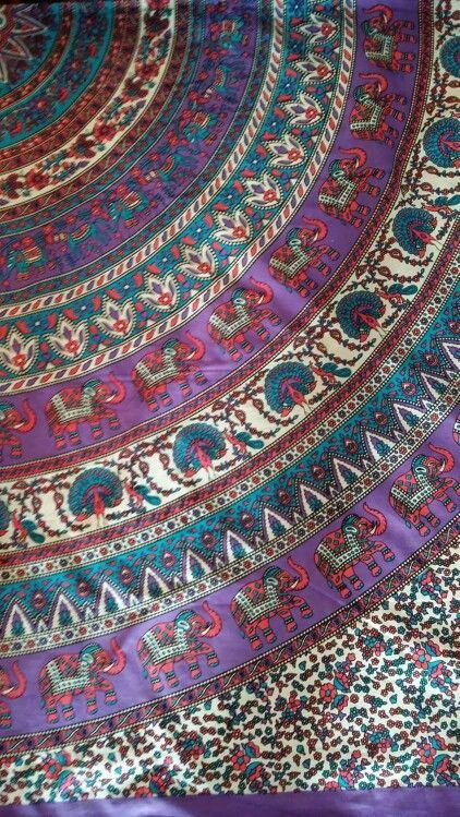 Elephant mandal bedspread