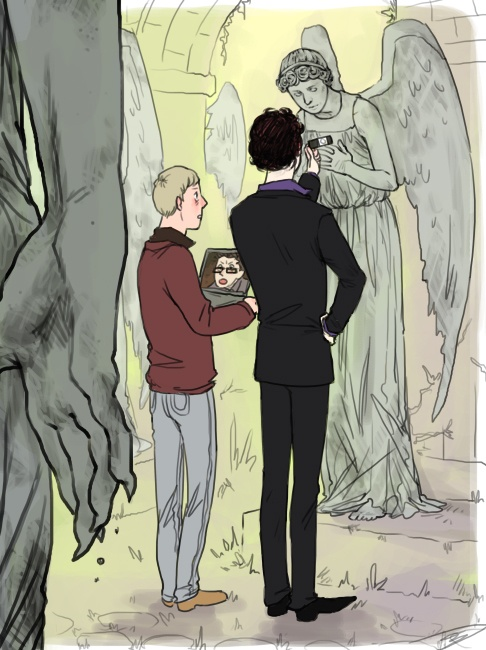 Johnlock Dr. Who. Crossover WATCH OUT BEHIND YOU!