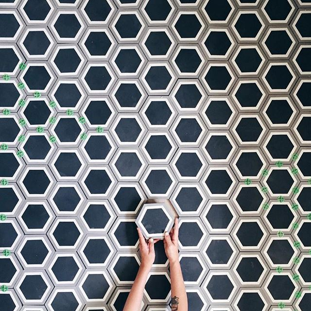 one of our favorite client photos of 2015 is this epic photo by of her hexagonal cement tiles we are always honored when you choose cl to be in your home - Metal Tile Home 2015