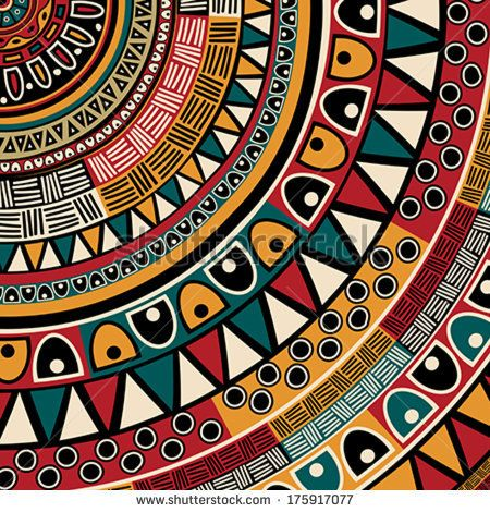 Tribal ethnic background, abstract art by Richard Laschon, via Shutterstock