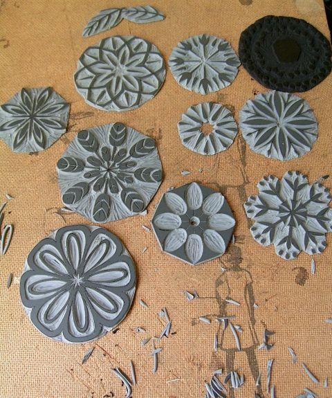 Blütenstempel diy, süß für Fotoalben, etc.