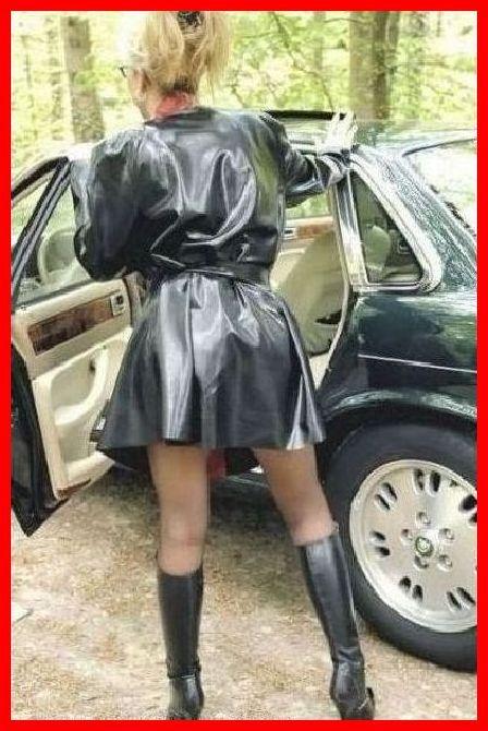 Masturbation rubber raincoat
