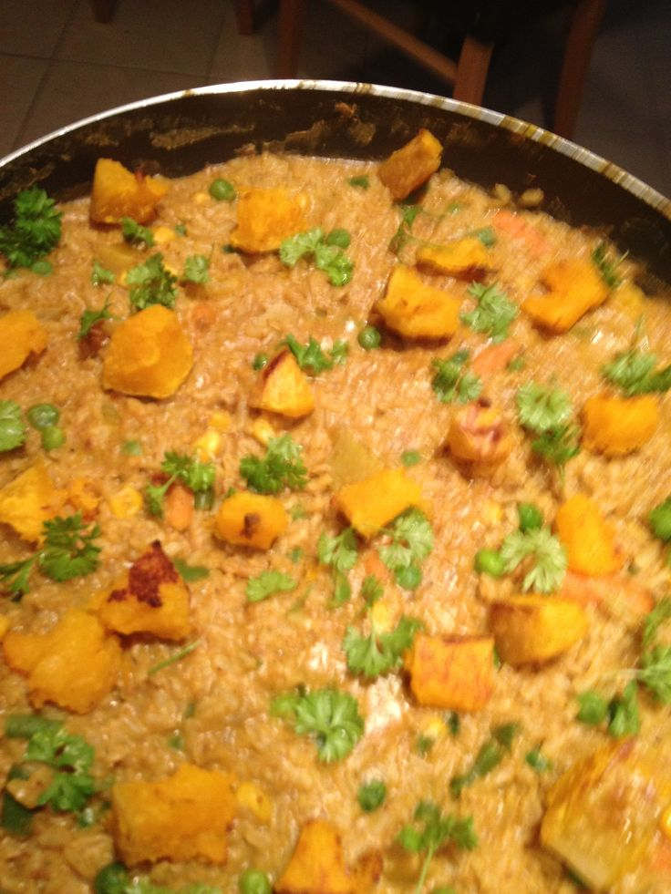 roasted squash and coriander risotto