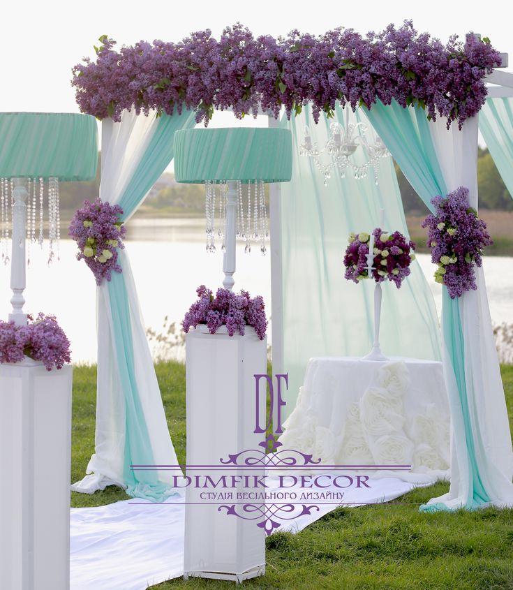 Wedding ● Ceremony Decorations lilac & white & mint,