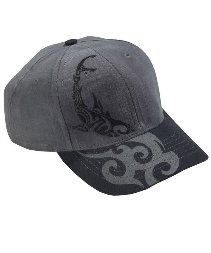 Circling Sharks - Graphite Twill Hat