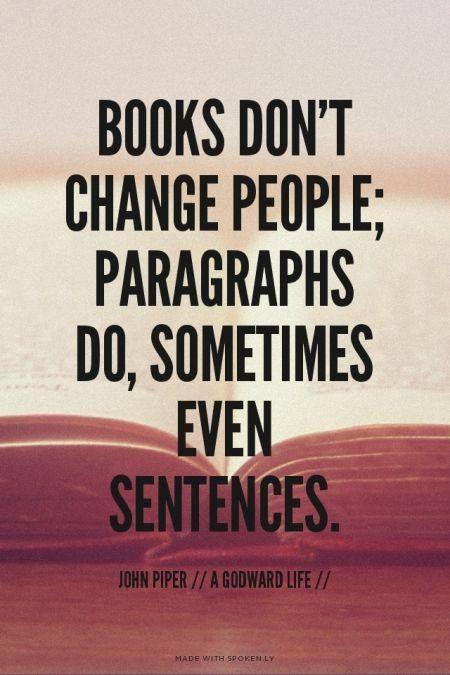 Books shape people's minds