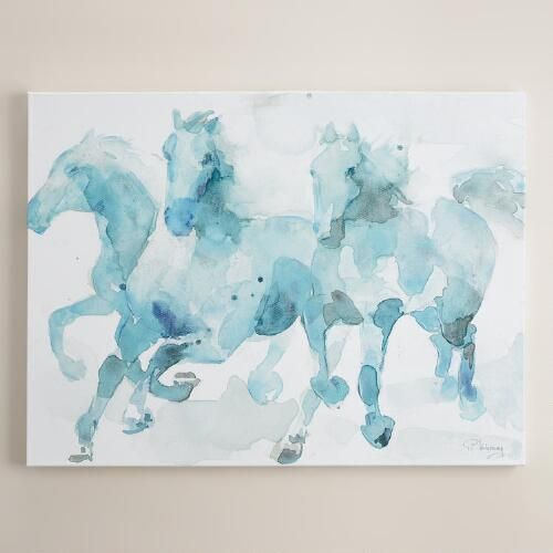 One of my favorite discoveries at WorldMarket.com: 'Watercolor Horses' by Paul Valencay
