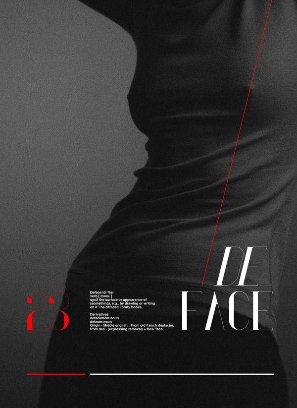 De Face: Art Typographic Posters, Inspiration, Poster, Amazing Posters, Typography, Graphic Design Posters, Poster Designs