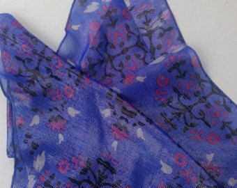 Sparkly Blue Paisley scarf, Holiday gift for Grandmother Shimmer fabric scarf Christmas Gift for Wife, Birthday Gift for Coworker Blue Scarf by blingscarves. Explore more products on http://blingscarves.etsy.com