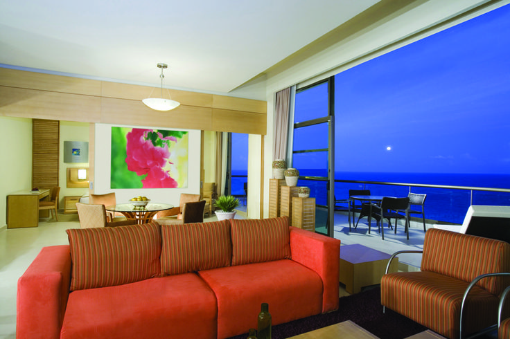 The presidential suite at the Beach Palace Cancun.