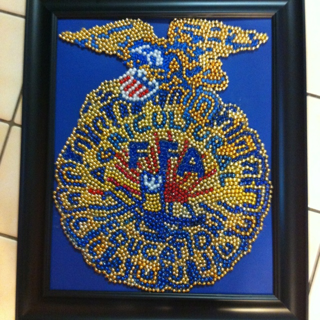 FFA Emblem Bead Art(: omg I've gotta do this