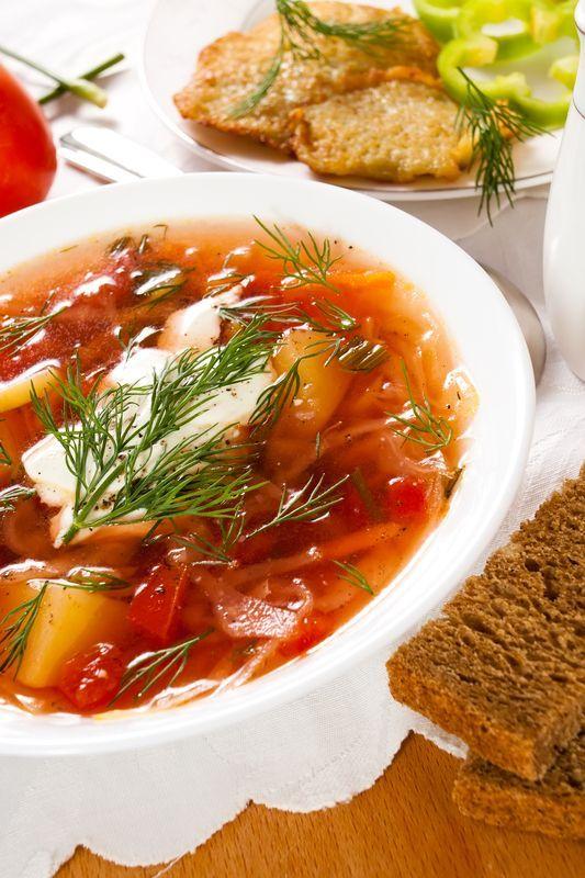 Ukrajinský boršč - Recept pre každého kuchára, množstvo receptov pre pečenie a varenie. Recepty pre chutný život. Slovenské jedlá a medzinárodná kuchyňa