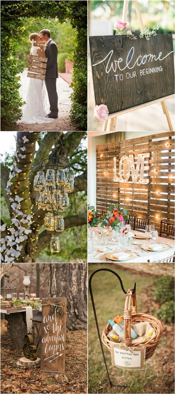 Rustic Wedding Decor Ideas & Country Wedding Themes / http://www.deerpearlflowers.com/perfect-rustic-wedding-ideas/2/