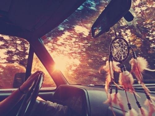 I'm thinkin' I need a dreamcatcher in my car. :)