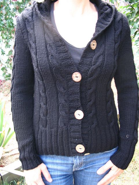Ravelry Knitting Pattern Central : 24 best images about knit: cardigans- hooded on Pinterest