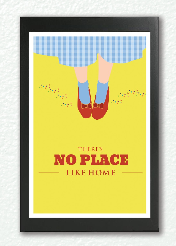 """Inspirational quote print, """"There's No Place Like Home ..."""