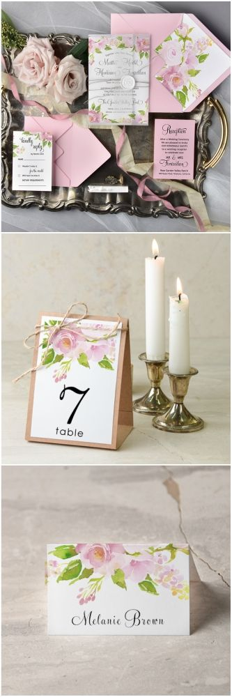 Floral romantic wedding stationery - all matching your theme #wedding #weddingideas #floral #flowers #boho #rustic #romantic