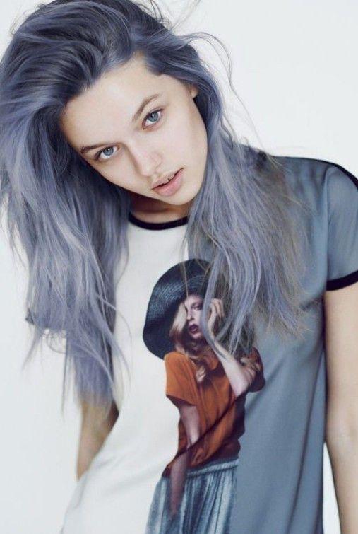 Mavi Küllü Saç Modelleri