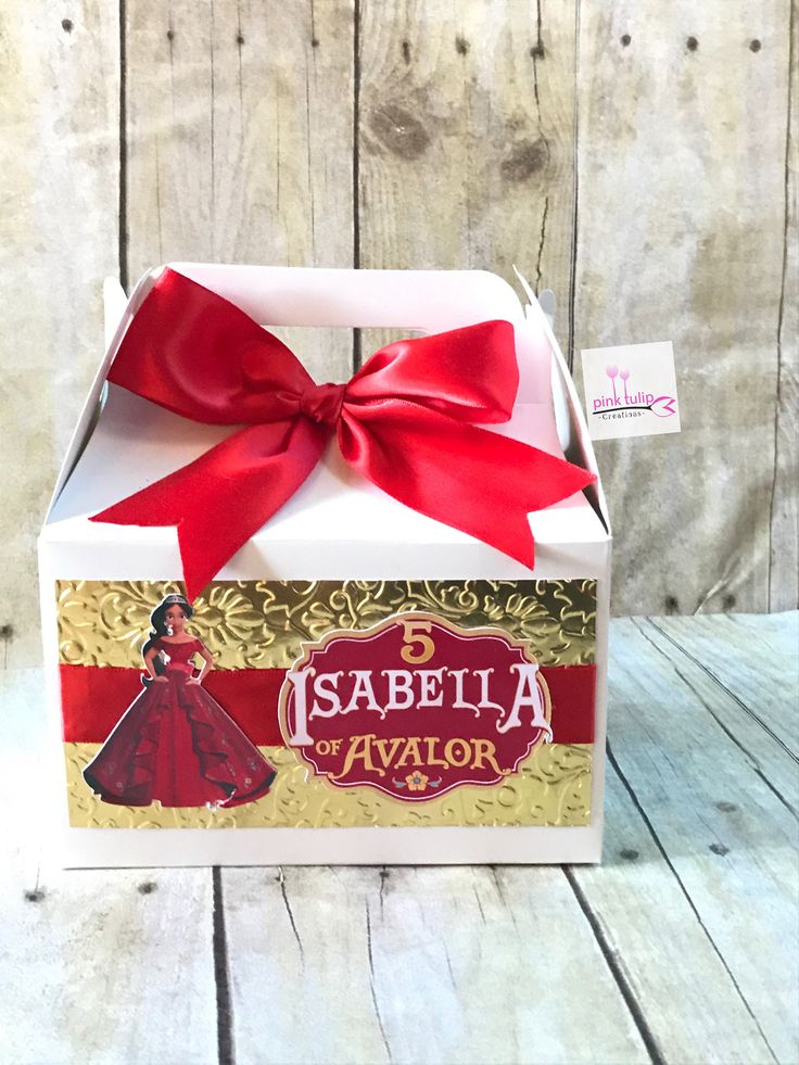 Elena of Avalor Favor Boxes, Gable Boxes, Favor Bags, Elena of Avalor Birthday Party, Treat box, goodie bags. by PinkTulipCreations on Etsy