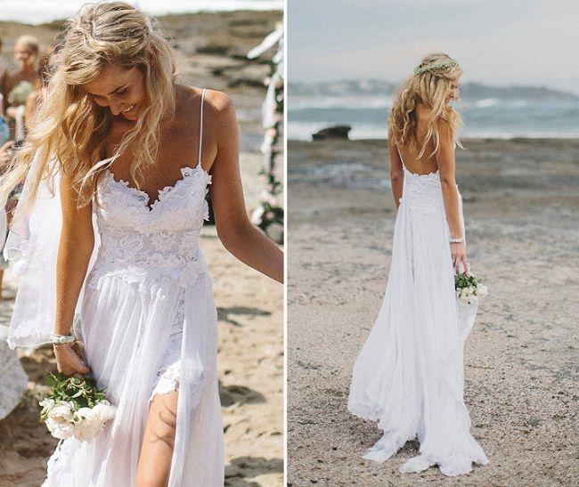 Dit is een jurk voor de echte boho bruid. Zie je jezelf al lopen over het festivalterrein? Of op het strand met een paar leuke sandaaltjes. Bestel deze trouwjurk van Grace loves lace voor €1385,51.