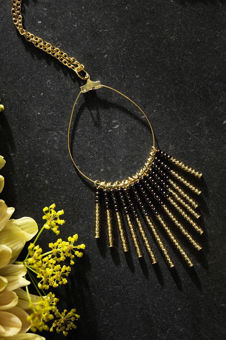 Rocaille necklace www.panduro.com Jewellery by Panduro #jewellery #jewelry #earrings #smycken #örhängen #rocaille #rocailles #pärlor #beading #beads