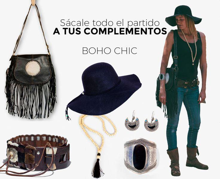 Consigue tu outfit boho chic combinando bolso y cinturón de Marruecos, bisutería kuchi, collar japa mala y un precioso sombrero