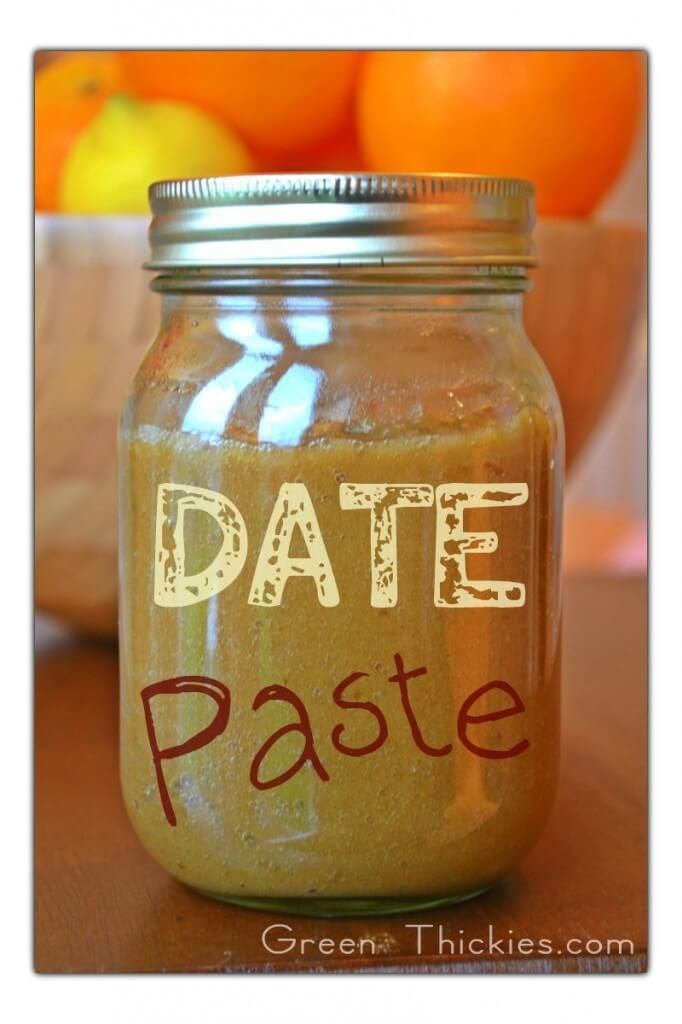 Date Paste Recipe (an all-natural sweetener made w/ only dates and water)