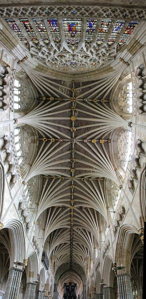 Stunning ceiling at Exeter Cathedral