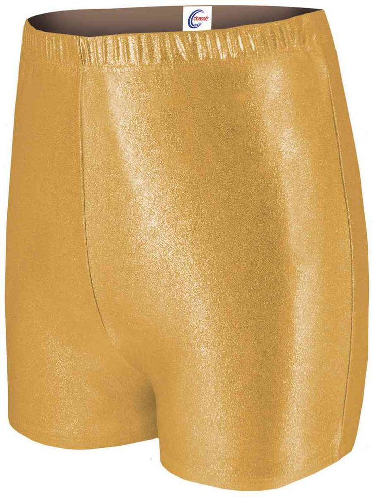 Gold Cheer Shorts