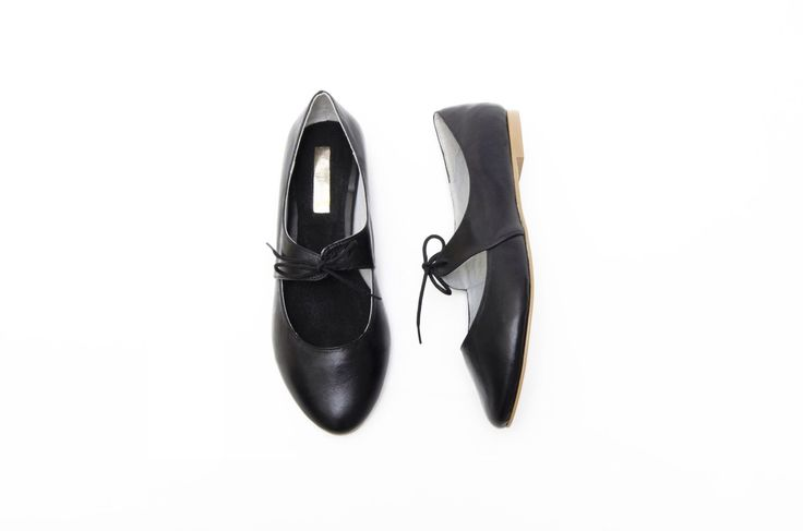 Black leather Ballet Flats - WIDE FIT by MinaShoes on Etsy https://www.etsy.com/listing/216811777/black-leather-ballet-flats-wide-fit