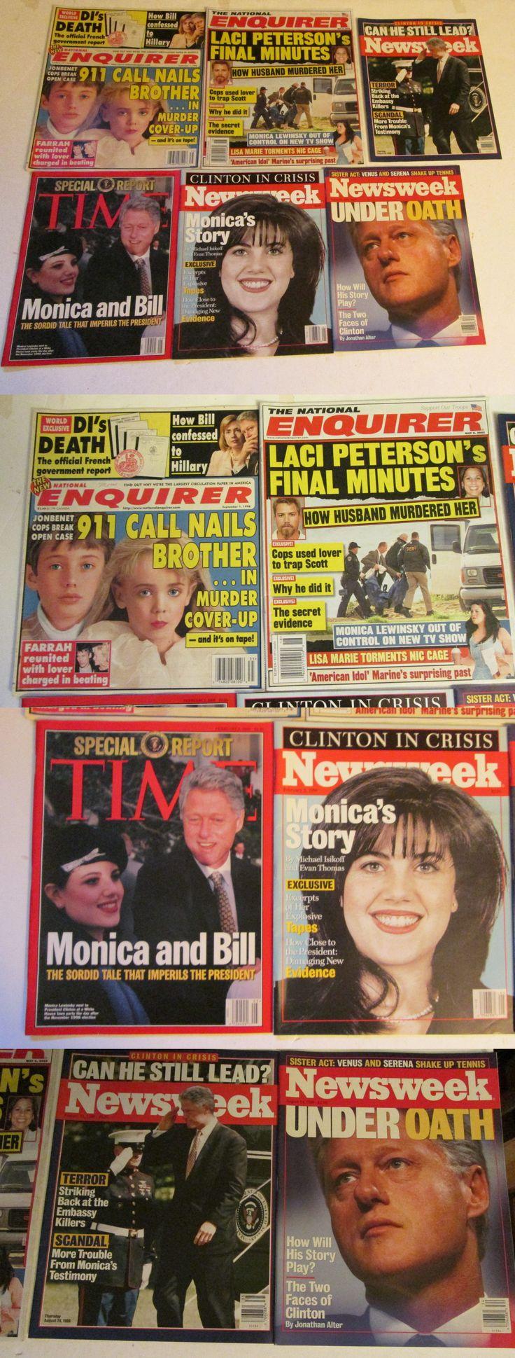 Bill Clinton: Lot Of 6 Bill Clinton Scandal Magazines Rare Oop Tabloids Monica Lewinsky 90S -> BUY IT NOW ONLY: $6.99 on eBay!