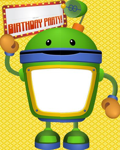 Have a Bot Photo Poster at your next Umizoomi Birthday Party! #NickJr