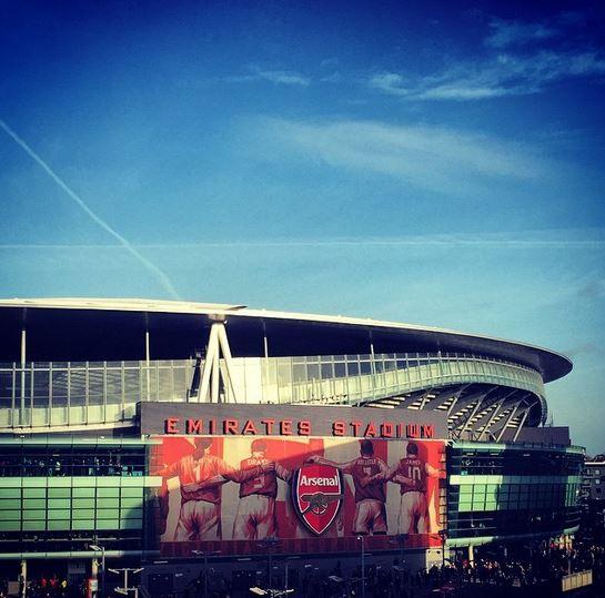 Emirates Stadium with David Seaman, Ted Drake, David Rocastle, and Alex James