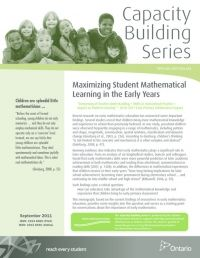 From the Ontario government - capacity building series - MATH