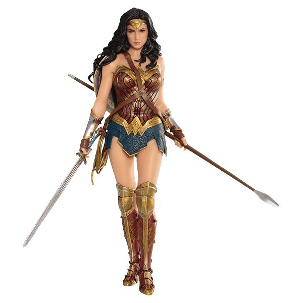 Kotobukiya's next ARTFX+ statue lineup is from none other than the Justice League movie!  Wonder Woman stands at 1/10 scale with magnets in the feet for display stability on the included base. Although in the 1/10 scale, Wonder Woman is sculpted in precise detail only possible with Kotobukiya's craftsmanship. Wonder Woman is precisely replicated from the face of the actoress to the texture and color of her costume and weapons.  Display alone or alongside other ARTFX+ Justice League members!