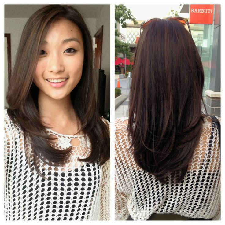 Tone on Tone highlights Chocolate brown long