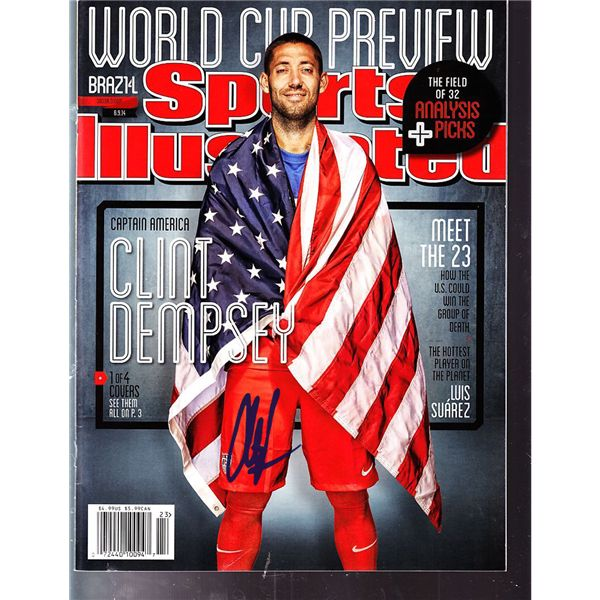 Steiner Sports Clint Dempsey Signed USA Soccer Sports Illustrated 16x20