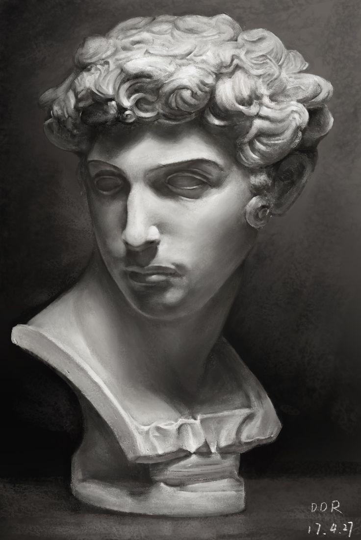 картинки головы скульптуры отражает