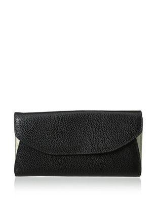 65% OFF Zenith Women's Two-Tone Wallet, Black/Bone