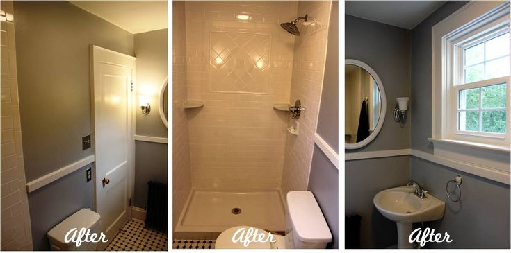 Half bath to a full bath. Great breakdown of costs and love the shower tile pattern