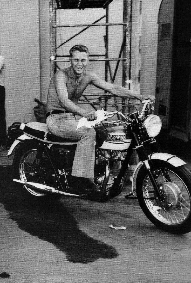 Steve McQueen, 1966 #motorcyclesculture | caferacerpasion.com