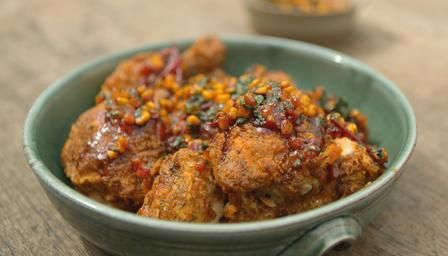 Southern-fried buttermilk chicken with tomato salsa - BBC Home Comforts James Martin programme
