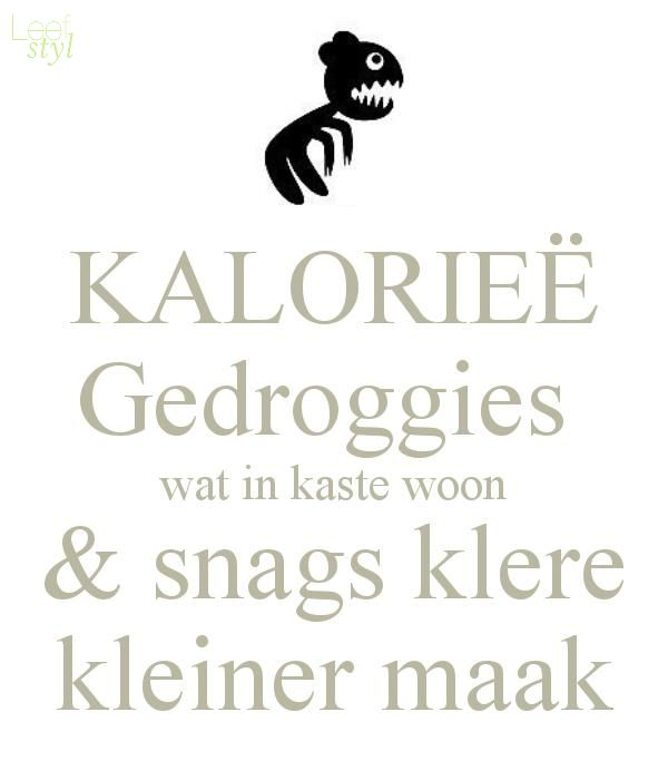 Kalorie-gedroggies