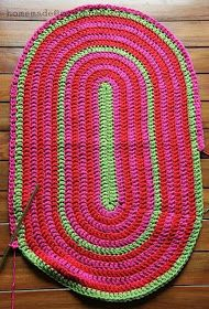 Oval table runner / rug step-by-step tutorial by homemade@myplace ❁•Teresa Restegui http://www.pinterest.com/teretegui/•❁