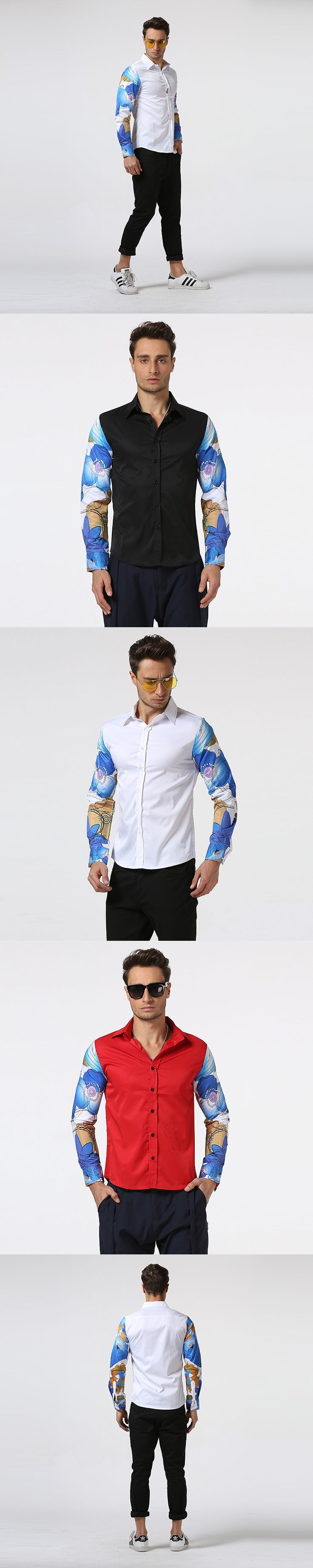 2017 Brand New Men Shirts Long Sleeve Male Slim fit Shirts High Quality camisa masculina Hip Hop Clothing brand-clothing